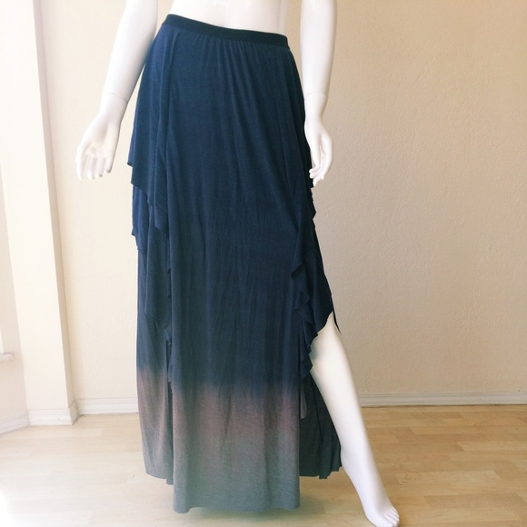 c87638741e Free People Dresses & Skirts - Free People Double Slit Ombre Maxi Skirt